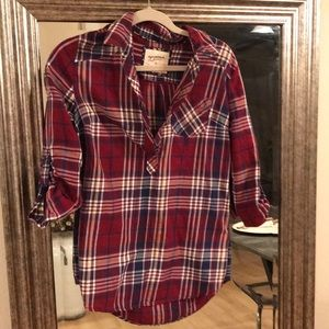 Pull over plaid top
